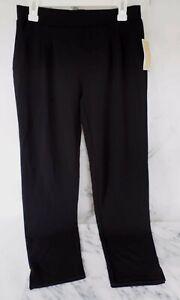 Pantalones De Trabajo De Mujer Mk Michael Kors Basico Pantalon Negro Tamano Pequeno 6 Etiquetas De 110 Nuevo Ebay