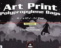 100 Bcw 11 X 17 Resealable Bags Art Print - Photo - Acid Free 11x17