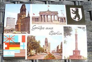 Salutations-de-Berlin-Carte-Postale-50er-60er-Annees-Pfb-26-A