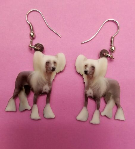 Chinese Crested Dog  lightweight fun earrings  jewelry FREE SHIPPING!