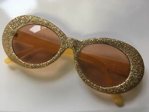 7d915a0c1ef Image is loading Christmas-Clout-Goggles-Rapper-Glasses-Sunglasses-GOLD- GLITTER-