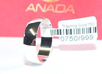1 Trauring - Hochzeitsring Weißgold 750 - Breite 6mm - Herstellungszeit 10 Tage Einfach Zu Verwenden