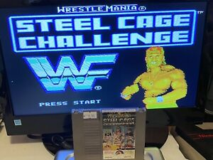 100-WORKING-NINTENDO-NES-SUPER-FUN-Game-Cartridge-WWF-STEEL-CAGE-CHALLENGE