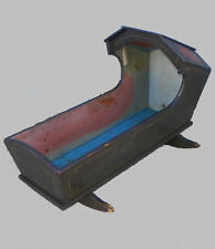 Antique Primitive Wood Painted Baby Cradle crib or bed