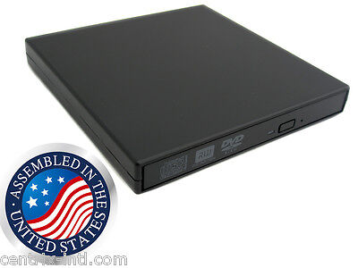 Black External Dual Layer USB DVD CD RW Burner Writer Player Drive All PC MAC