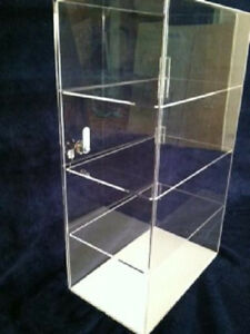 Acrylic-Countertop-Display-Case-12-034-x-8-034-x-19-5-034-Locking-Security-ShowCase