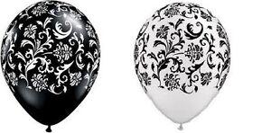 BLACK-WHITE-COMBO-damask-party-balloons-birthday-latex