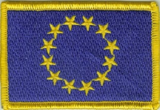 Aufnäher Europa Fahne Flagge Aufbügler Patch 8 x 5 cm