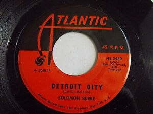 Solomon-Burke-Detroit-City-It-s-Been-A-Change-45-1967-Atlantic-Vinyl-Record