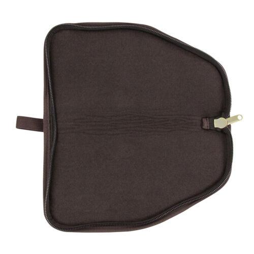 TOURBON Canvas Soft Padded Handgun Pouch Bag Tactical Pistol Gun Carrying Case