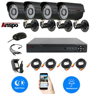 Anspo-4-PACK-720P-4in1-HD-Camera-Outdoor-CCTV-Home-Security-Surveillance-System