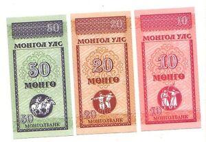 Mongolia-set-di-3-10-20-50-mongo-1993-FDS-UNC-Pick-49-50-51-Lotto-3120