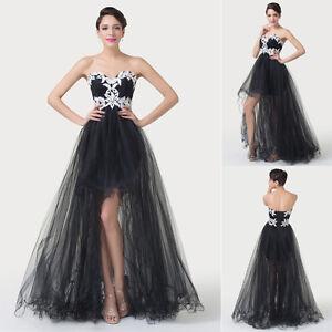 Long Tulle  Satin GRADUATION BALL Bridesmaid Formal Gown Ball ...