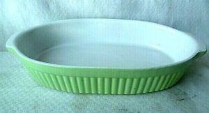 Auflaufform dicke Keramik weiß grün oval 34 x 19 x 7 cm