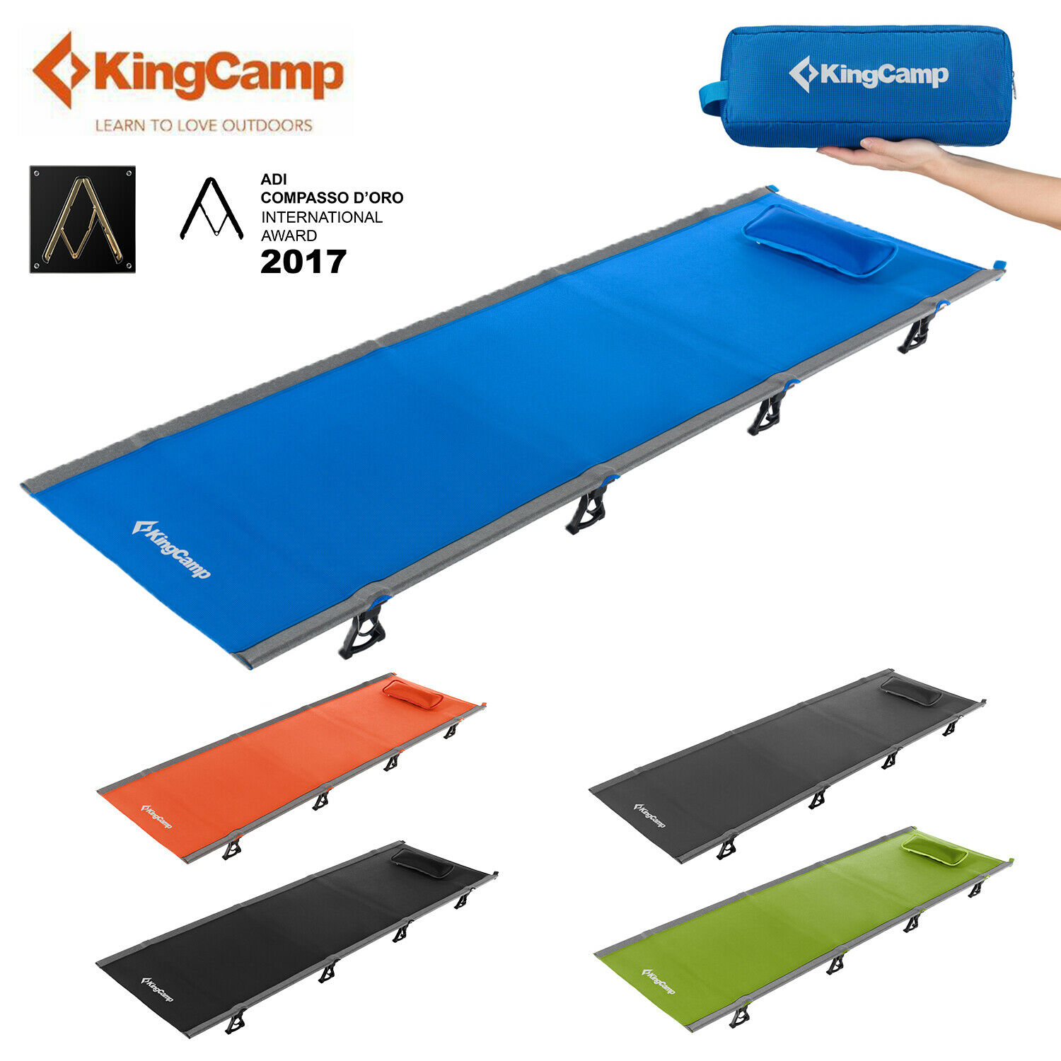 KingCamp Camping Folding Bed Sleeping Cot Ultralight Military Portable  Sleepover  great offers