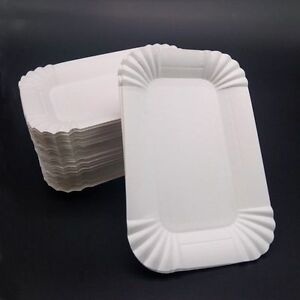 Image is loading Tableware-Dish-Disposable-Rectangular-Shaped-Party-Paper- Plates- & Tableware Dish Disposable Rectangular Shaped Party Paper Plates ...