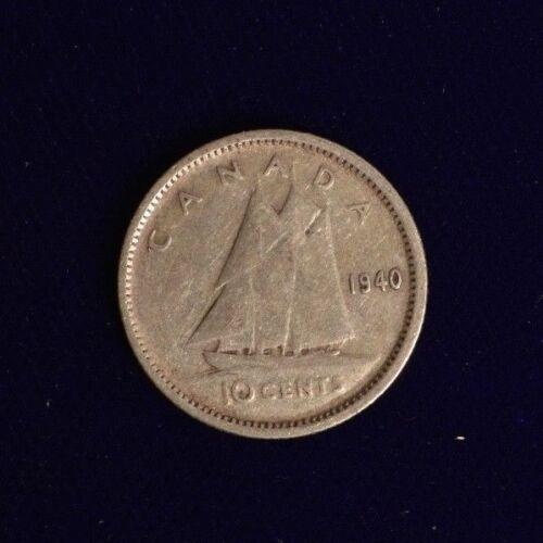 Canada 1940 10 CENT Nice Coin Book filler ~ average circulated