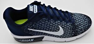 NIKE MENS AIR MAX SEQUENT 2 MULTIPLE SIZES BLUE WHITE 852461