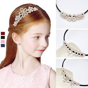 Bling Kids Girls Bridal Princess Crystal Crown Head Band Hair Clip ... ae8a1b457e19