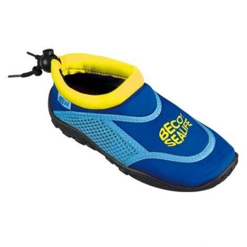 Beco SeaLife Swim Shoes Childs/Kids Foot Protection BLUE Pool Beach Size UK 8-9