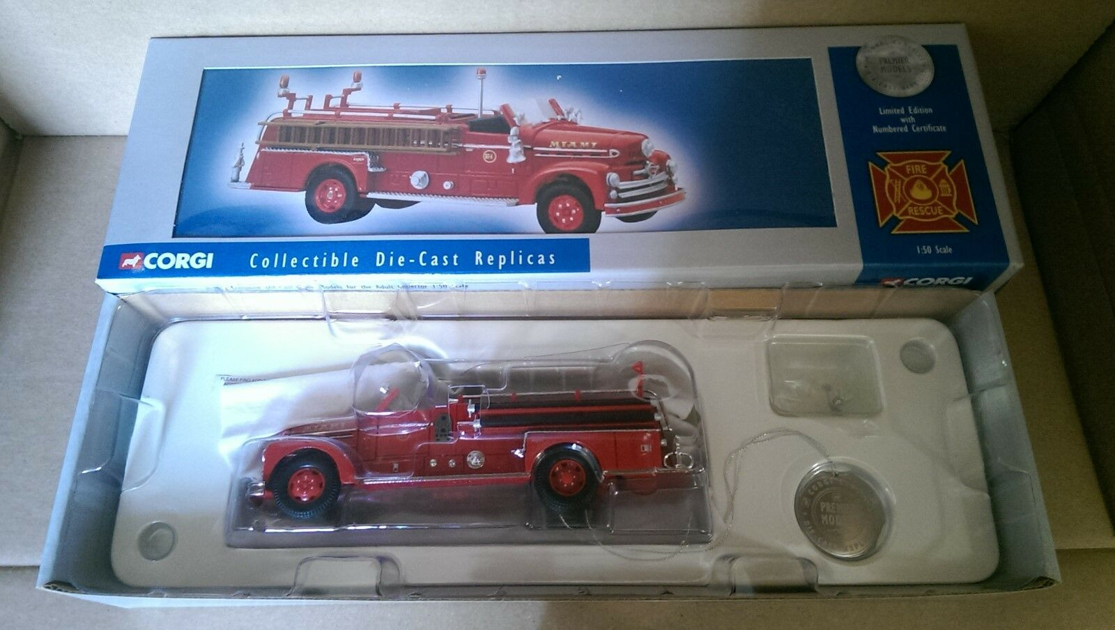 contador genuino Corgi Corgi Corgi US50503 Seagrave 70th Anniversary Miami, FL. Ltd Edition No. 0004 of 3700  envío gratis