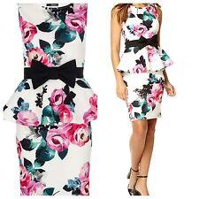 Floral Peplum Dress Size 12