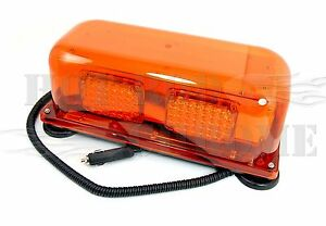 Amber-Magnetic-Mount-Flashing-Mini-LED-Light-Bar-Truck-Trailer-Hazard-Alert