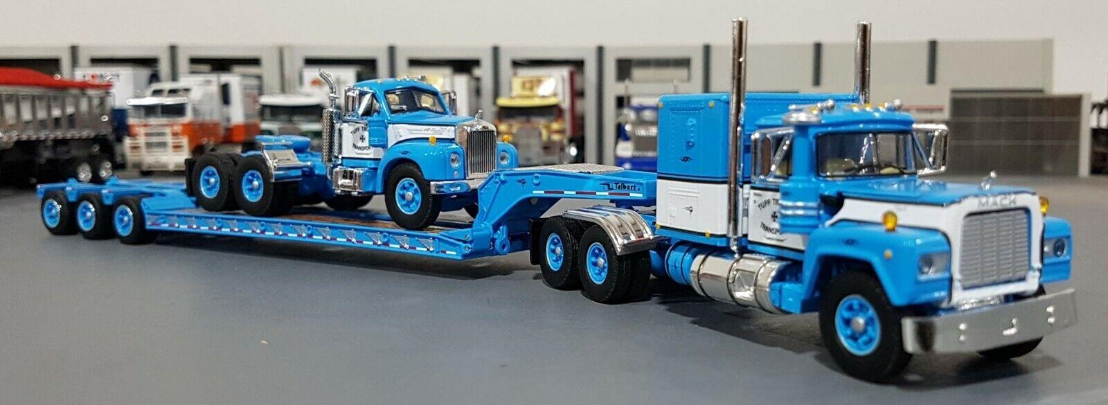 blu 1 64 Mack R-Modelo & B-Modelo & Pesado Haul Remolque Diecast hecha por First Gear