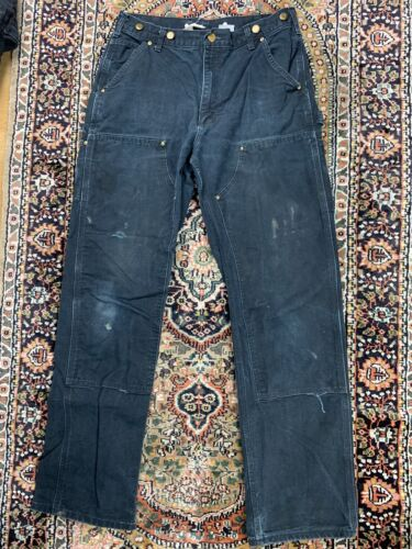 Vtg Carhartt Double Knee Work Pants Size 33x34 Mad