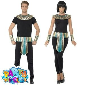 Adult Egyptian Pharaoh Costume Kit Mens Ladies Egypt Fancy Dress Outfit Couples