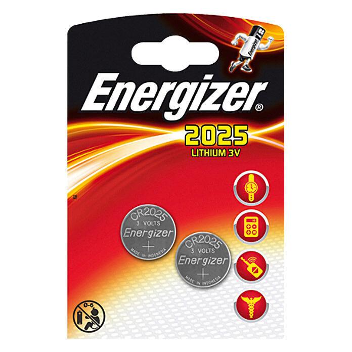 Energizer Lithium Knopfzellen Batterie CR2025 DL2025 2er Blister MHD 7 2023 | Sale Düsseldorf