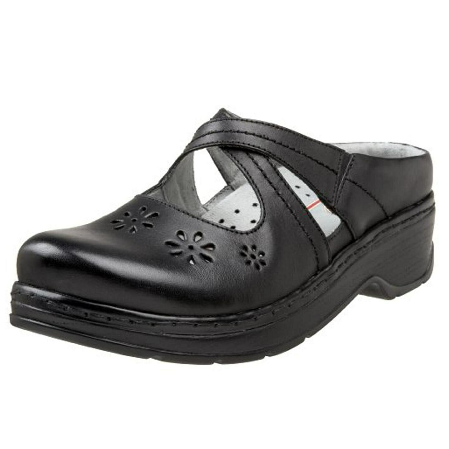 KLOGS CAMILA LEATHER CLOGS DISPLAY MODEL nero SMOOTH 8.5 M