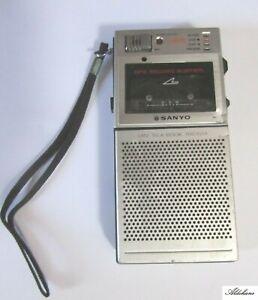 Vintage Retro Audio Sanyo  Trc 3550 Mini Cassette talk-Book Tape Recorder