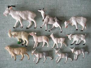 11 Figurines : Mouton Chevre Brebis Bouc Agneau – Clairet Starlux Ferme Campagne