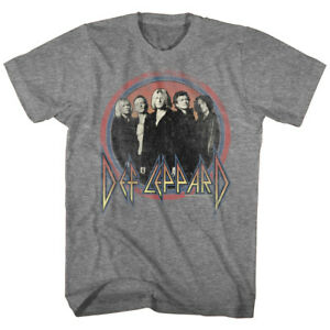 Def-Leppard-Group-Circle-Men-039-s-T-Shirt-Metal-Rock-Band-Album-Tour-Concert-Merch