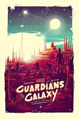 "Guardians Of The Galaxy - Movie 2014 Silk Cloth Poster 20 x 13"" Decor 13"