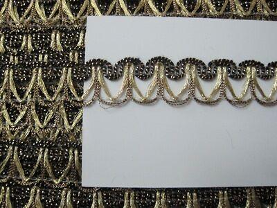 Elegante Brokat Borte Gold BO-GB-1148
