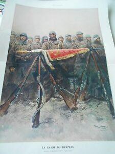 Illustration La Garde Du Drapeau Ww Print 1915