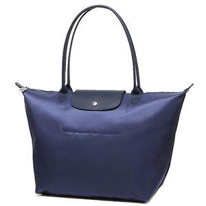 6f8325f04d8 100% Auth Longchamp Le Pliage Neo Large Tote Bag Navy Blue ...