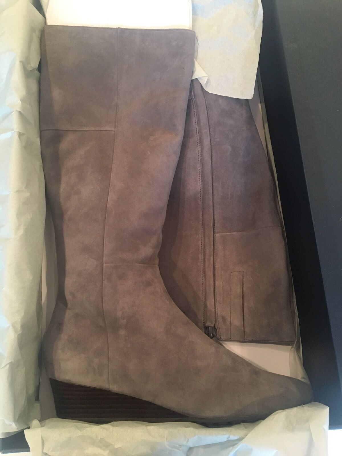 Cole Haan Tali Luxe Wedge Boots, STORMCLOUD, Size 8, New