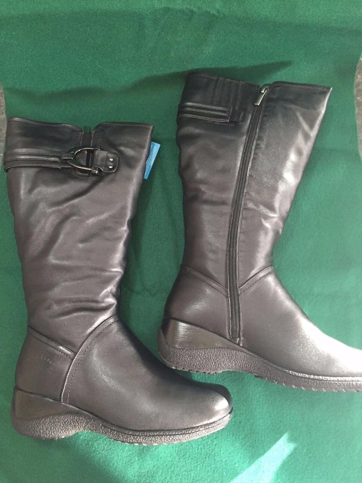 SPRING STEP ALBANY WOMEN BLACK LEATHER Stiefel Winter Warm 39 8.5 NEW NIB