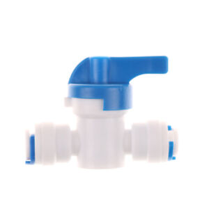1//4/'/' Inline Ball Valve Quick Connect Shut Off for RO Water Reverse Osmosis KC