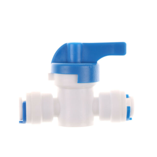 1/4''Inline New Ball Valve Quick Connect Shut Off forRO Water Reverse Osmosis FT