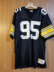 timeless design 9fb1b 5b22d Details about Vintage Greg Lloyd #95 Pittburgh Steelers Wilson Jersey Adult  L