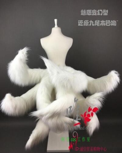 Legends LOL Ahri Nine-Tailed Cosplay fox Tails prop Halloween dress up Hot SYJJ