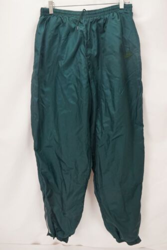 Vintage 90's Nike Athletic Nylon Sweatpants Green