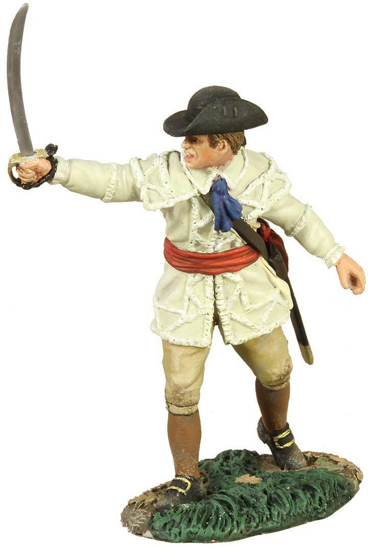 BRITAINS SOLDIERS 16004 - Colonial Militia Officer Pointing Pointing Pointing with Sword 3114b4
