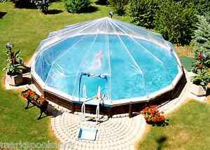 Image Is Loading Round Above Ground Swimming Pool Solar Sun Dome