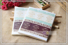THANK YOU Elegant Sticker Seal Label for Gift Box Soap Craft Packaging Decoratio
