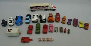 Vintage Mixed 25 Vehicles Diecast Toy Cars Lot Hong Kong Whizzwheels Tootsietoy